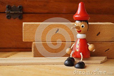 Background with Pinocchio wooden doll