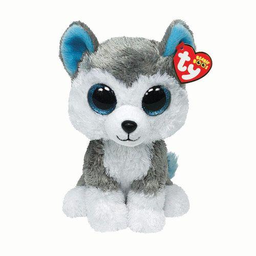 Large H22cm TY Grey Husky Soft Toy