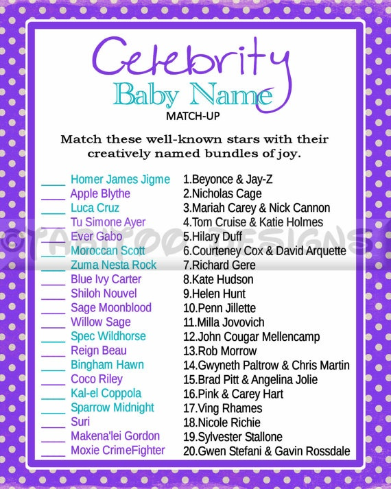 baby shower printable shops babies and celebrity baby names