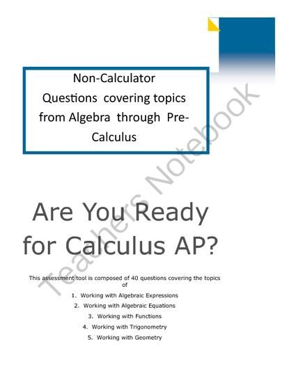 Are-you-ready-for-Calculus-Solutions