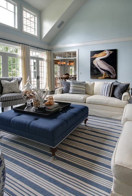 blue and white living room  Decorating Ideas  Pinterest