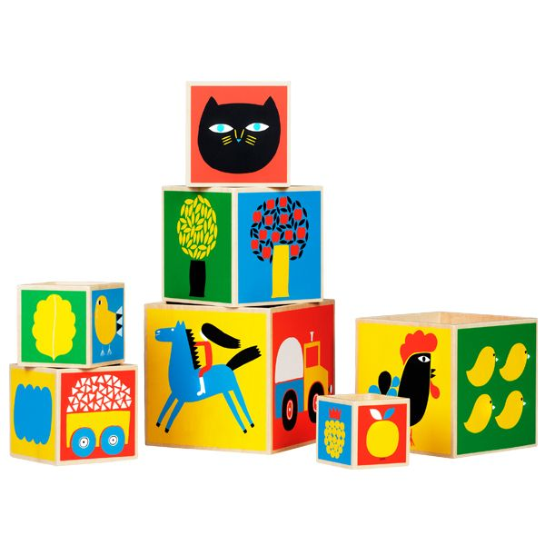 Raitti stacking boxes by Marimekko.