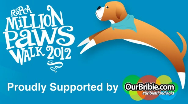 ourbribie.com is a proud sponsor of the 2012 RSPCA Caboolture Million Paws Walk.