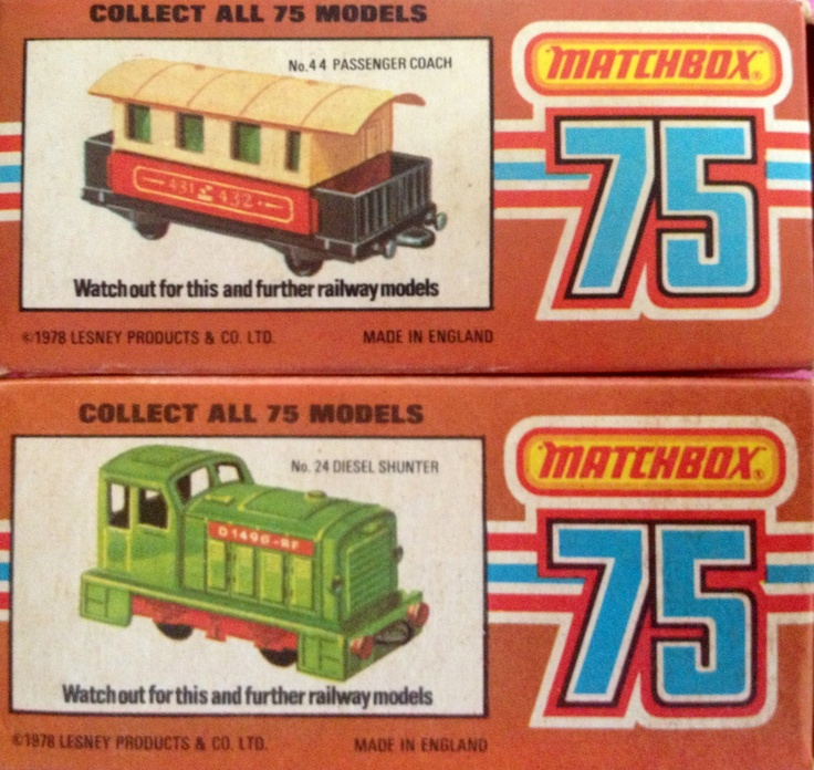 1978 Matchbox steam locomotive and passenger carriage