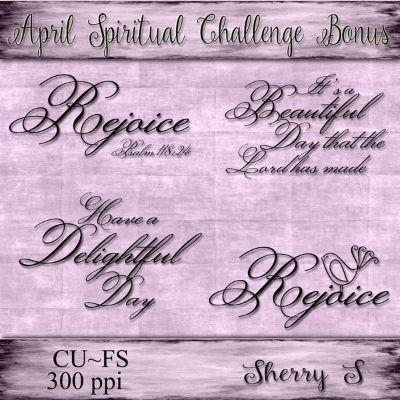 Scripture/Quote Challenge  