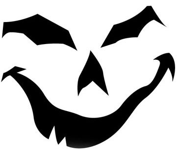 Pumpkin face stencil google search fiesta de halloween for Scary jack o lantern face template