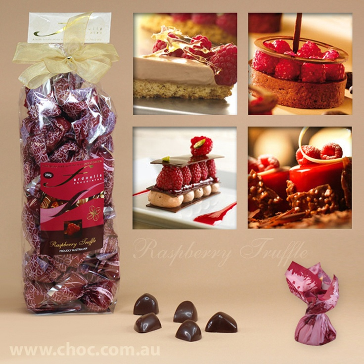 Raspberry Truffles Cellophane bags  Fardoulis Chocolates, Chocolate Plato  www.choc.com.au