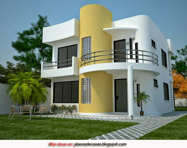 Plano de casa moderna de 161 m2 casas pinterest for Casas chiquitas y modernas