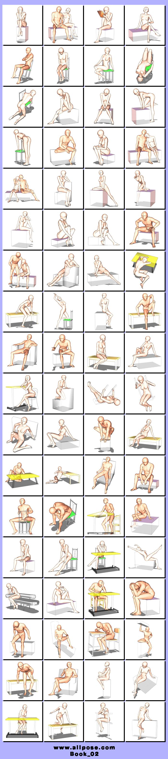 Some of these poses aren't my style but there are some good references for leaning on objects.