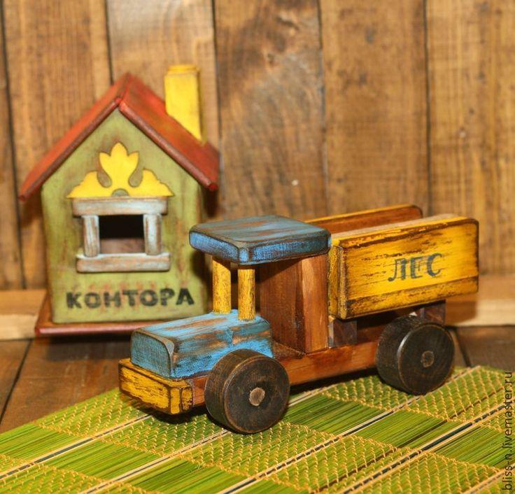 """Купить Грузовик """"Рожденные в СССР"""" - деревянная игрушка, игрушка для мальчика, машинка для вырубки, деревянные игрушки"""