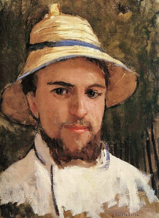 Self portrait by Gustave Caillebotte.
