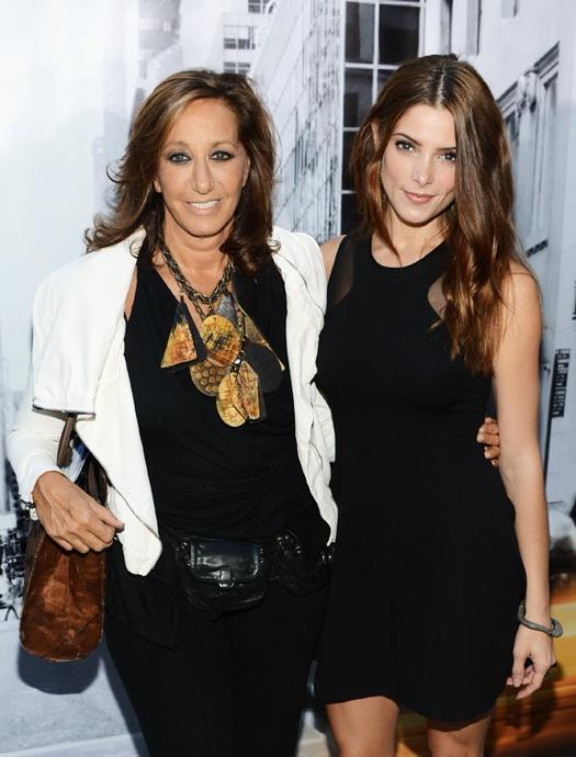 Знаменитости на Неделе моды в Нью-Йорке: Донна Каран и Эшли Грин