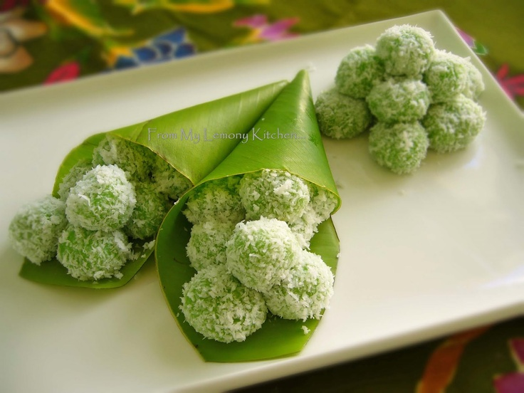 For the sweet bites table, needs to be homemade. Buah Melaka / Onde-Onde Recipe (From My Lemony Kitchen)