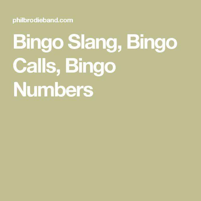 Bingo Slang, Bingo Calls, Bingo Numbers
