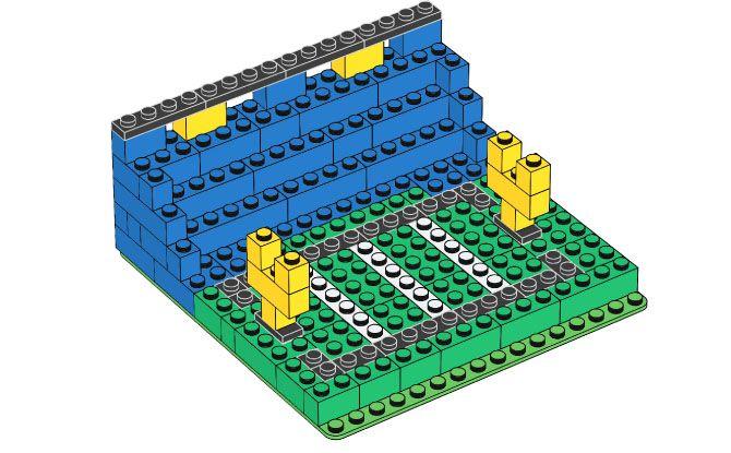 Lego Football Stadium with instructions