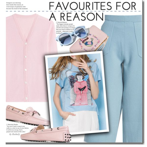 Casual by beebeely-look on Polyvore featuring Lucien Pellat-Finet, Tod's, Pinko, casual, loafers, casualoutfit, pastels and dezzal