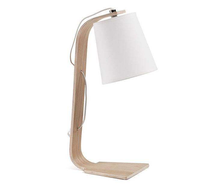 Volga lampara de mesa blanca