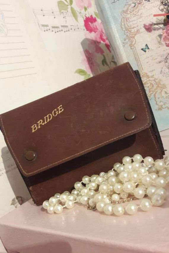 Vintage bridge cards with case pencil. by Prettyvintagehouse
