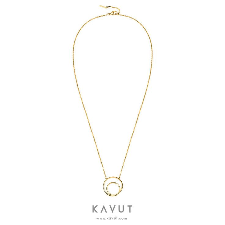 MAISON MARGIELA FINE JEWELRY Anamorphose Twisted Yellow Gold Pendant Necklace - Capsule Collection