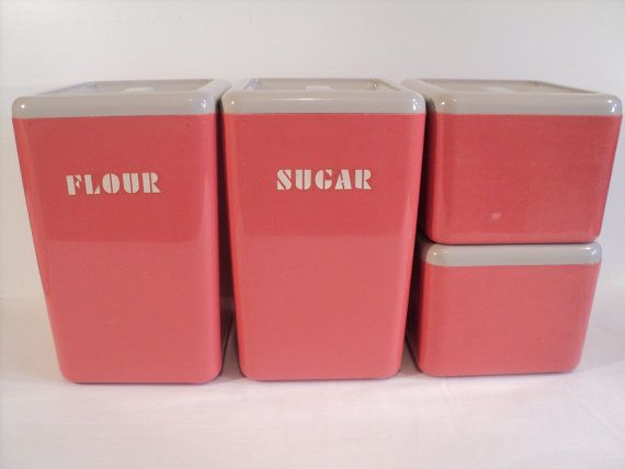 17 best images about tea coffee sugar tins on pinterest set of coffee tea and canister sets - Pink tea and coffee canisters ...