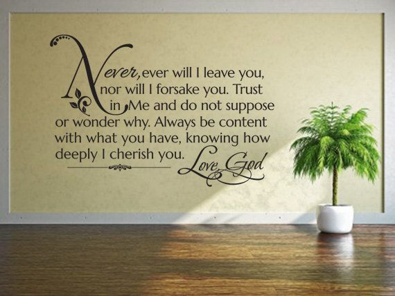 Religious Decals. How Great Shall Be Your JOY - CODE 031 Scripture ...