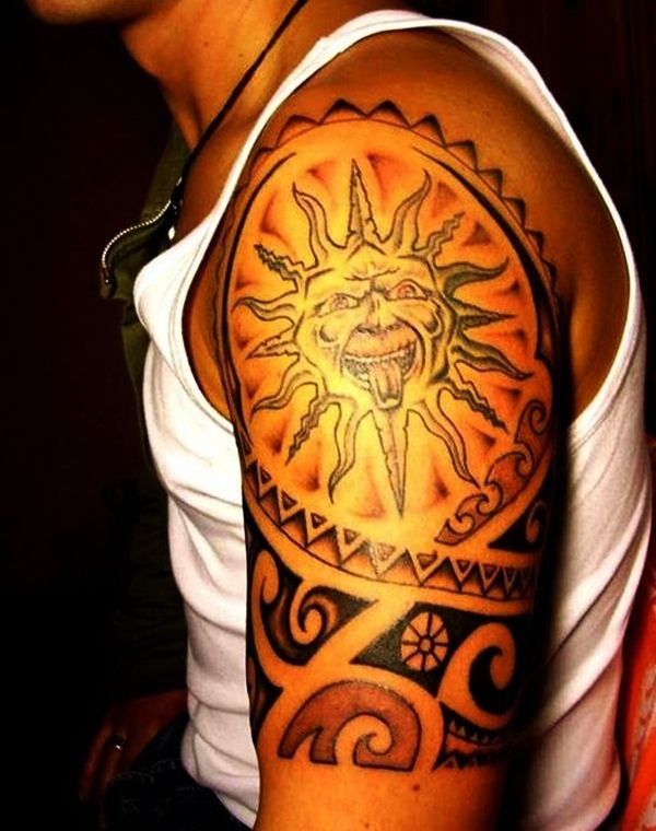 Sun Tattoo Designs for Men and Women (11)…