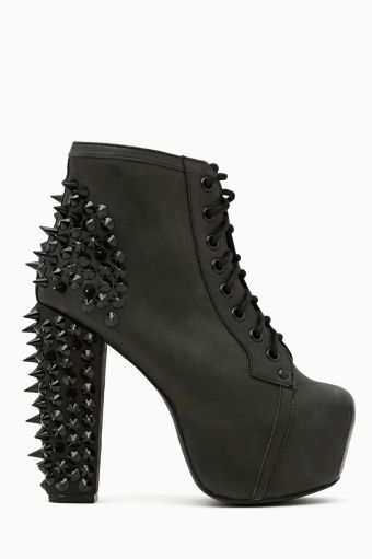 Spike Platform Boot - Blackout ♥