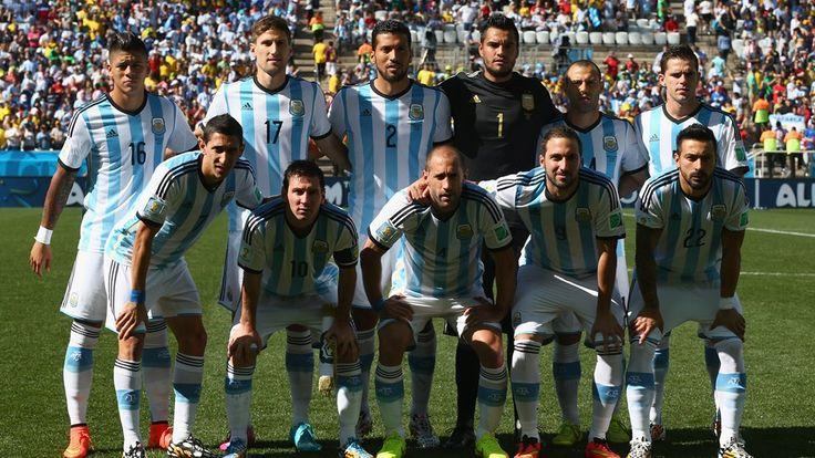 Argentina players team photo