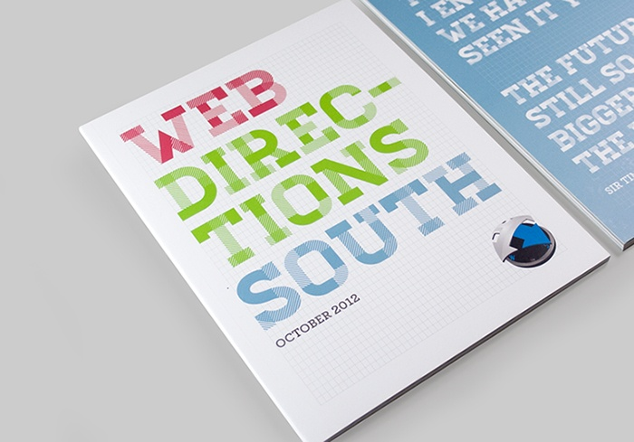 Web Directions South 2012 collateral by Here Lives Amanda (Amanda Cole)