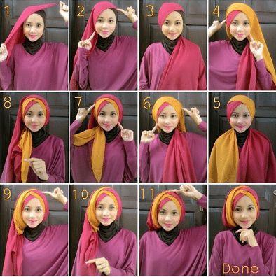 25 Tutorial Hijab Pashmina Simple Anggun Untuk Formal Serta Sehari Hari Star Fesyen
