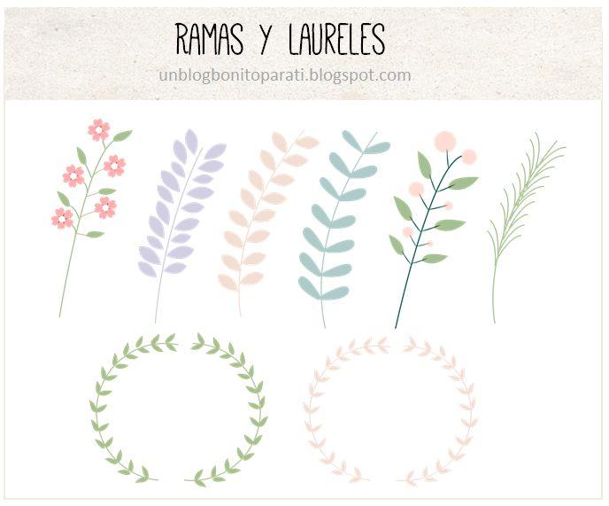 Freebies: Laureles y ramas