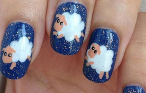 Diseños de uñas con animales e insectos, diseño uñas con animales ovejas. Clic Follow,  #uñas #nailsCLUB #uñasfinas