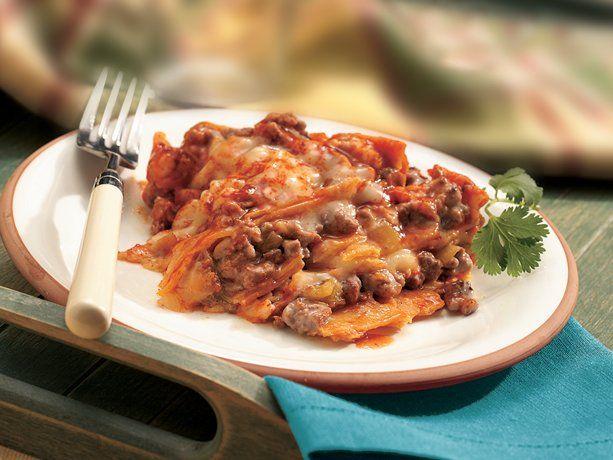 Slow Cooker Layered Enchilada Dinner - YUMMO!!!Layered Enchiladas ...