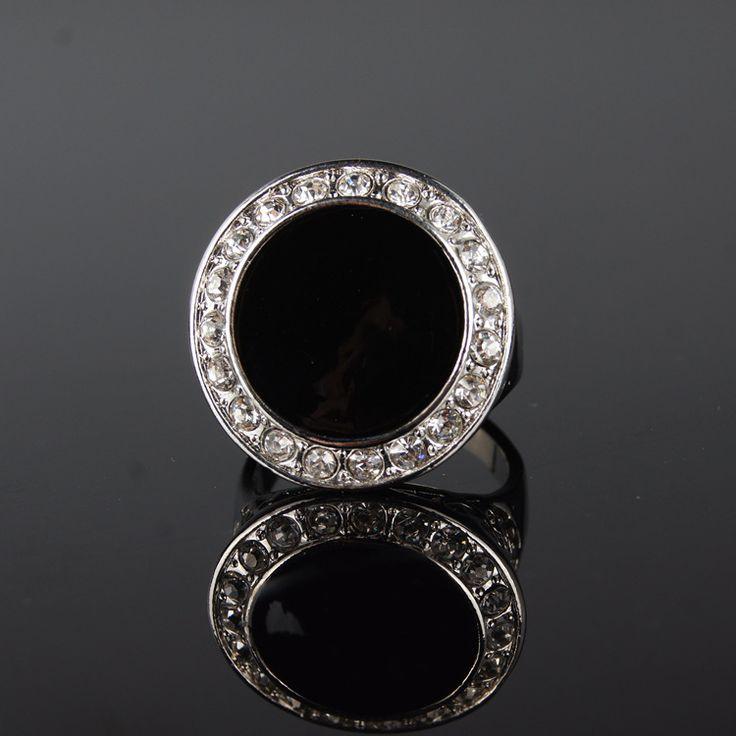 2015 последним ретро черный камень горный хрусталь кольца мода дикий элегантный улице избили индивидуальность женщины кольца купить на AliExpress