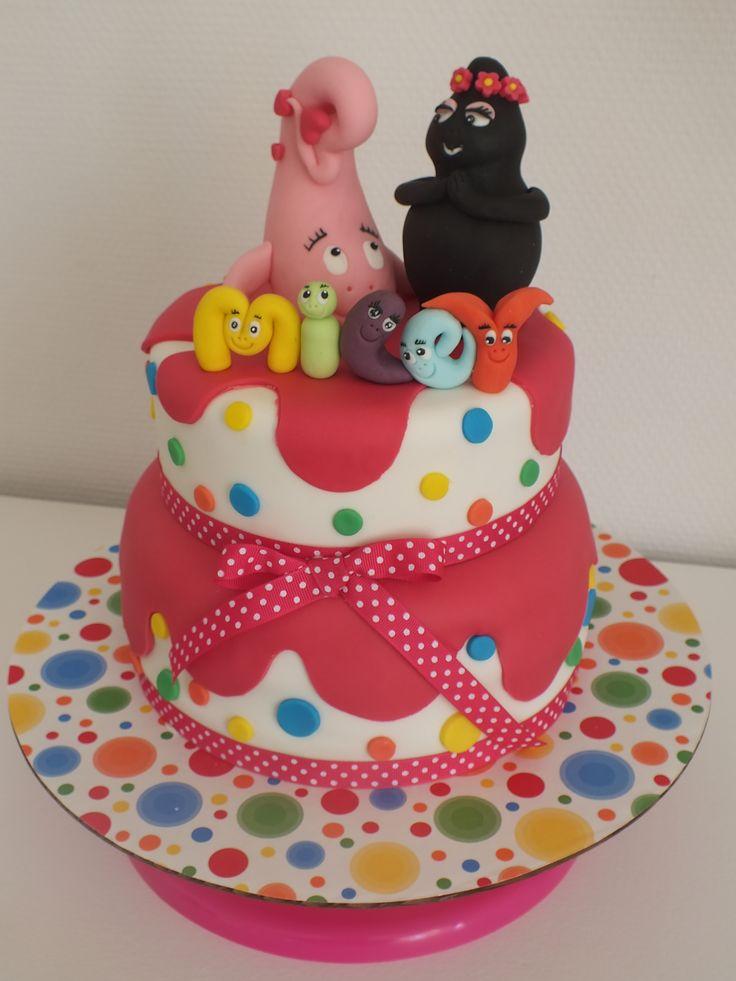 Anniversaire birthday grain de sucre cr atrice d 39 art sugar cake designer little - Decoration anniversaire barbapapa ...