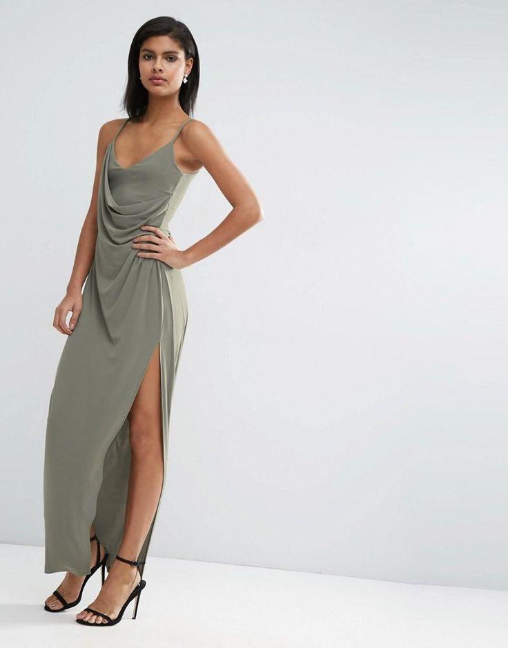 ASOS | ASOS Crepe Wrap Maxi Slip Dress at ASOS