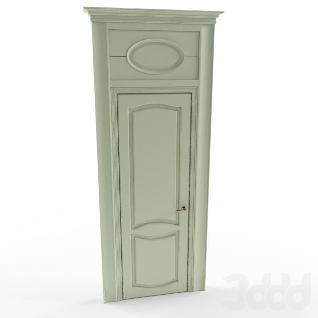 Дверь классическая с фрамугой