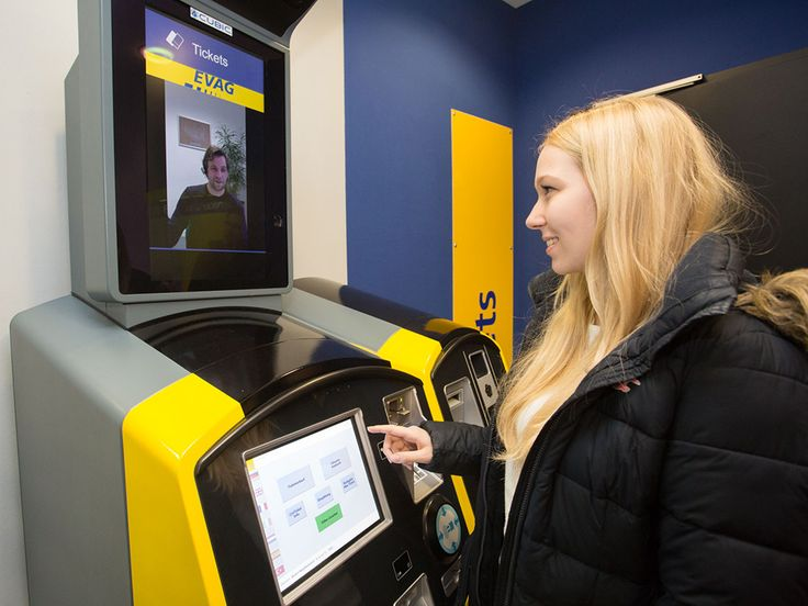 GERMANY: A 'virtual walk-up ticket office' which combines a self-service ticket machine with a video link to a call centre is being tested at Essen...