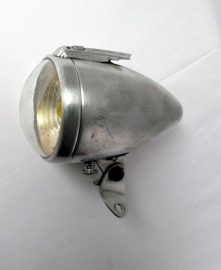 Phare de vélo Radios n 18 / lampe de vélo avant ancienne 1950 / accessoire de bicyclette de collection / vintagefr / vélo vintage français de la boutique LaptiteGermaine sur Etsy
