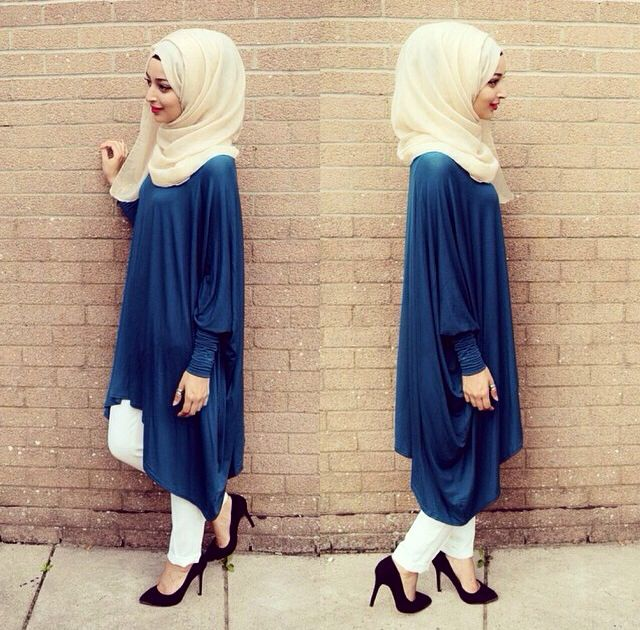 Hijab. so modest. I love the colors and draping, and the simplicity