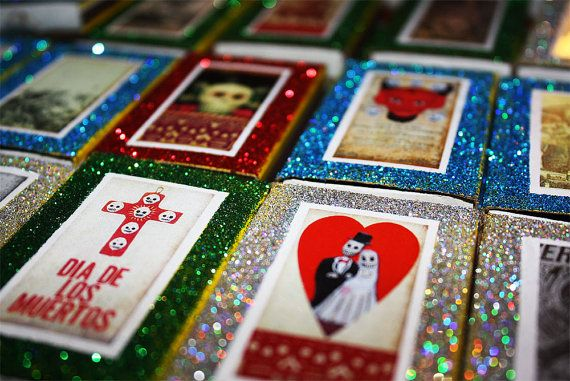 Day of the Dead Mexican Wedding Matchbox Favors by MyMercado, $129.95
