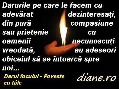 diane.ro: Darul focului - Poveste cu tâlc