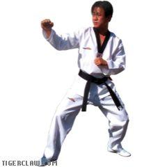 Pro Medium Weight - White w/ Black Trim TaeKwonDo Uniform
