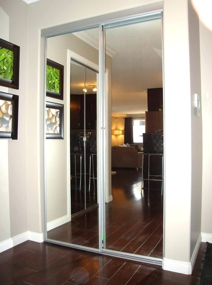 Sliding Mirror Closet Doors Lowes Delightful Innovative Sliding