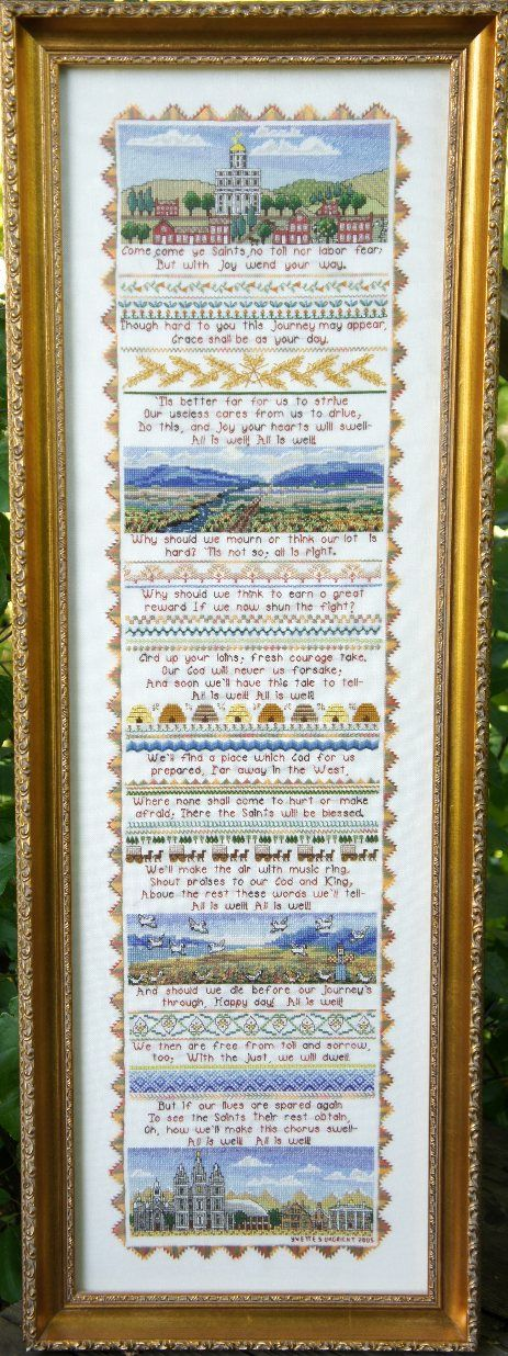 Yvette Ungricht Cross Stitch - Patterns Come, Come Ye Saints
