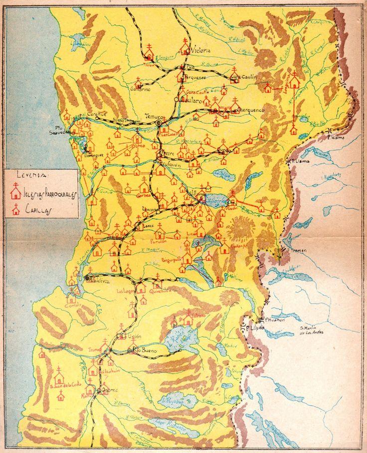 Araucanía. Misiones Capuchinas desde Victoria a Osorno. Publicado en Lemunantü (luz del bosque) 1946.