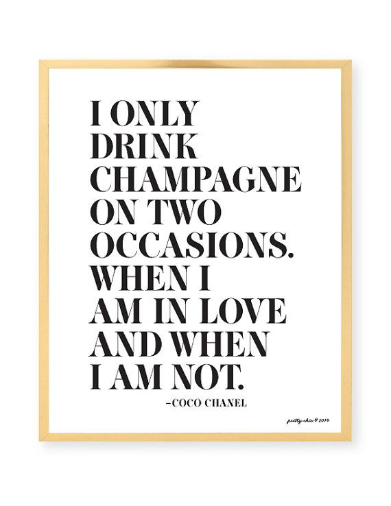 I Only Drink Champagne Print Bar Cart prettychicsf