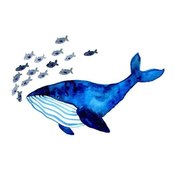 Print *Blue whale* by Frau Ottilie for kids / for children – Надо попробовать
