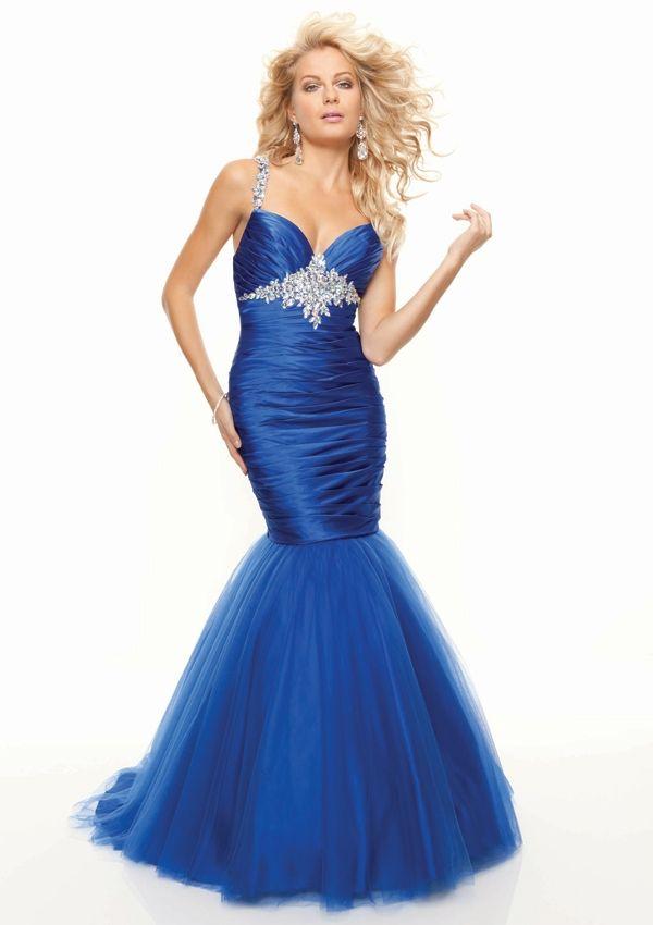 Appealing 2013 Mermaid V-neck Petite Cheap Prom Dress