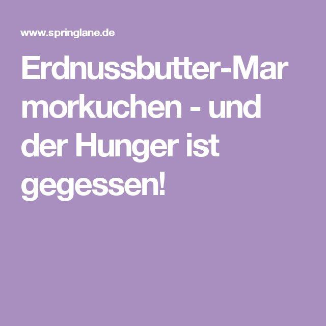 Erdnussbutter-Marmorkuchen - und der Hunger ist gegessen!